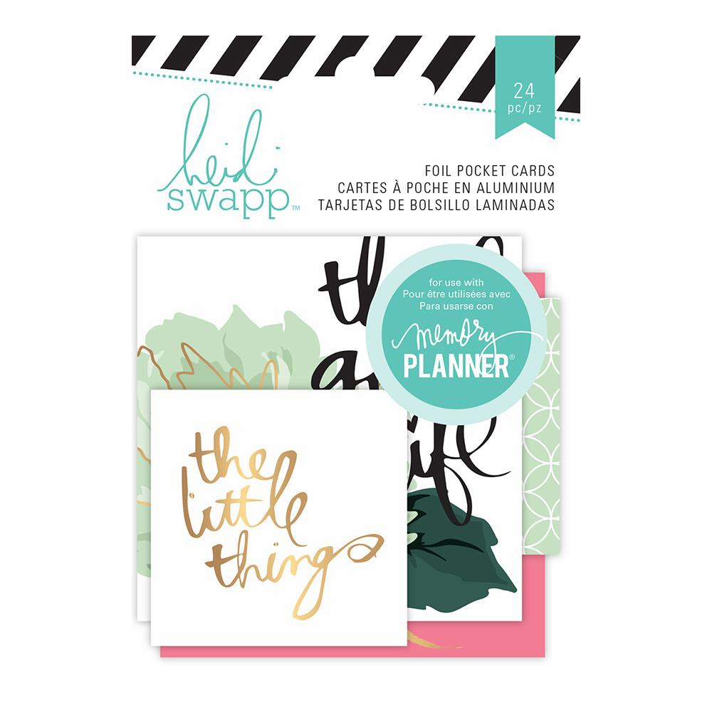 Heidi Swapp - Hello Beautiful Memory Planner - Foil Pocket Cards 2x2 & 3x3