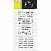Hero Arts Kelly Purkey Fitness Planner Clear Stamps (E)