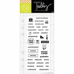 Hero Arts Kelly Purkey School Planner Clear Stamps