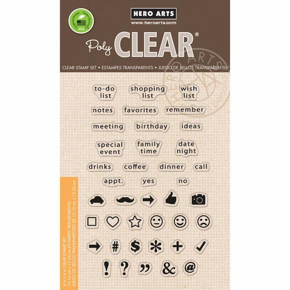 Hero Arts To Do List Planner Clear Stamps