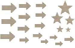 Jillibean Soup: Corrugated Shapes - Arrows 20/pkg
