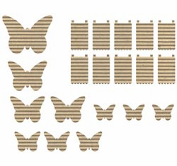 Jillibean Soup: Corrugated Shapes - Butterflies 20/pkg