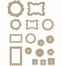 Jillibean Soup: Corrugated Shapes - Frames 20/pkg