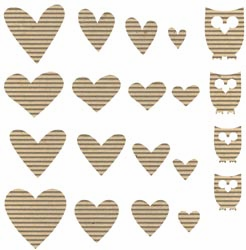 Jillibean Soup: Corrugated Shapes - Hearts 20/pkg