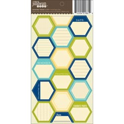 Jillibean Soup - Hexies Cardstock Stickers - Remember