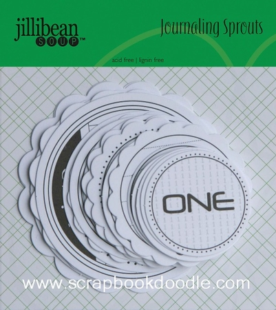 Jillibean Soup: Journaling Sprouts - Number Circles/Black