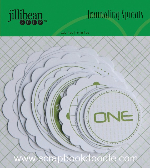 Jillibean Soup - Journaling Sprouts - Number Circles/Green