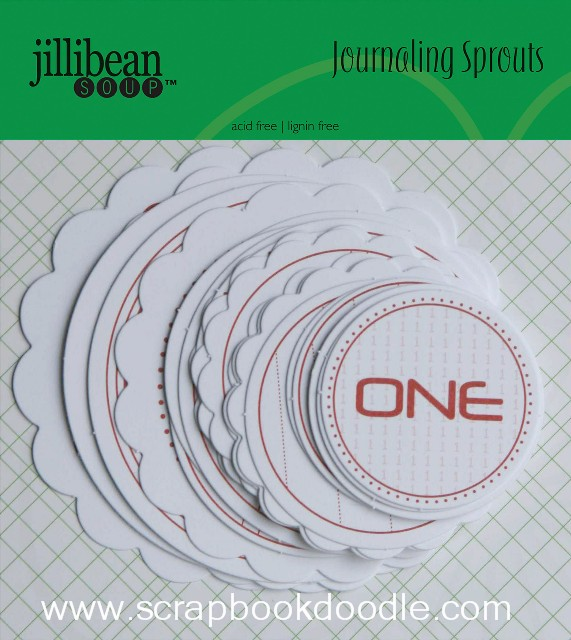 Jillibean Soup - Journaling Sprouts - Number Circles/Red