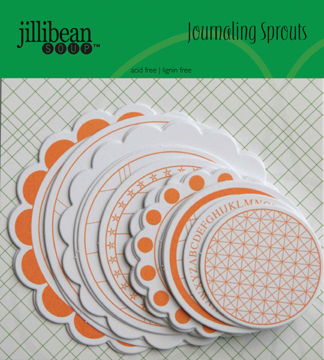 Jillibean Soup: Journaling Sprouts - Orange/White Circle 24/Pkg