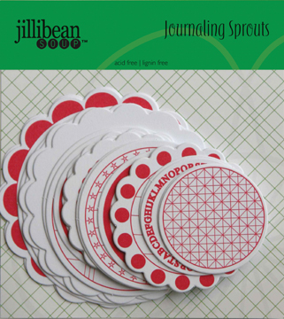 Jillibean Soup - Journaling Sprouts - Pink/White Circle 24/Pkg