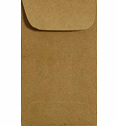 Jillibean Soup: Kraft Coin Envelope 6/Pkg