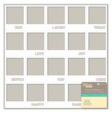 "Jillibean Soup - Placemats Die-Cut Cardstock 12""X12"" - White Mini Journaling Frames"