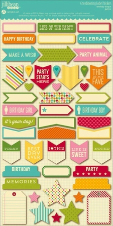 Jillibean Soup - Birthday Bisque - Cardstock Stickers