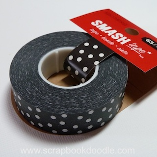 K & Company: SMASH Collection - Black Dots SMASH Tape (E)