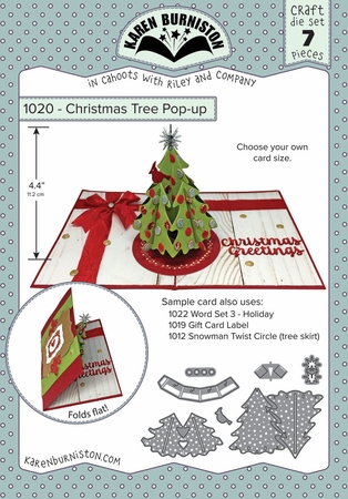 Karen Burniston Christmas Tree Pop Up Die Set 1020
