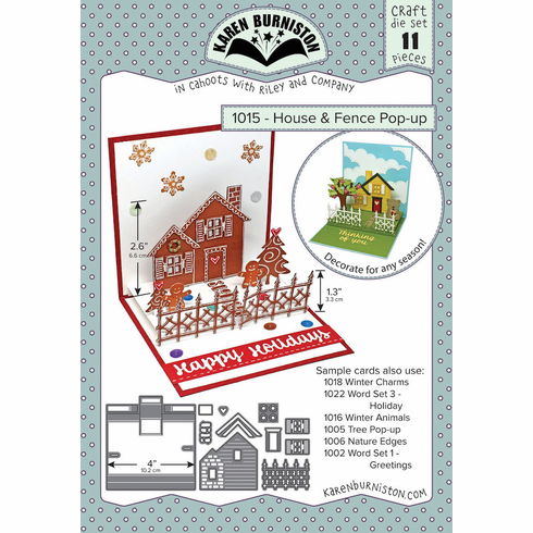 Karen Burniston House and Fence Pop Up Die Set 1015