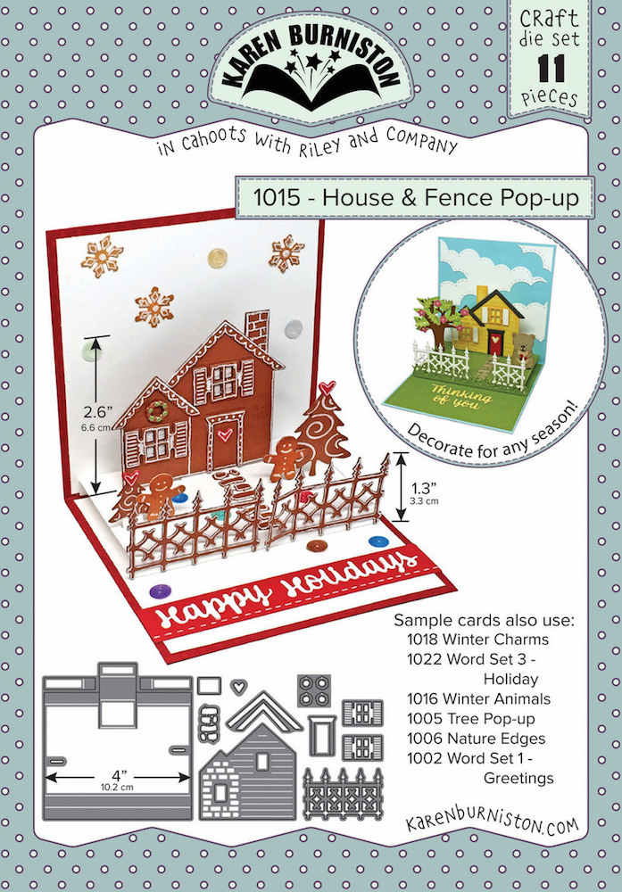 Karen Burniston - House and Fence Pop Up Die Set 1015