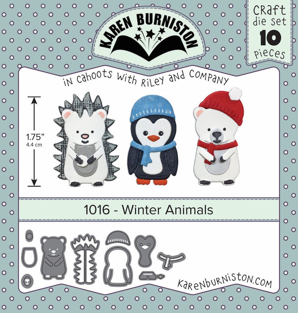 Karen Burniston Winter Animals Die Set 1016 (S/O)
