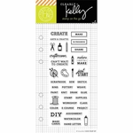 Hero Arts Kelly Purkey Arts & Crafts Planner Clear Stamps (E)