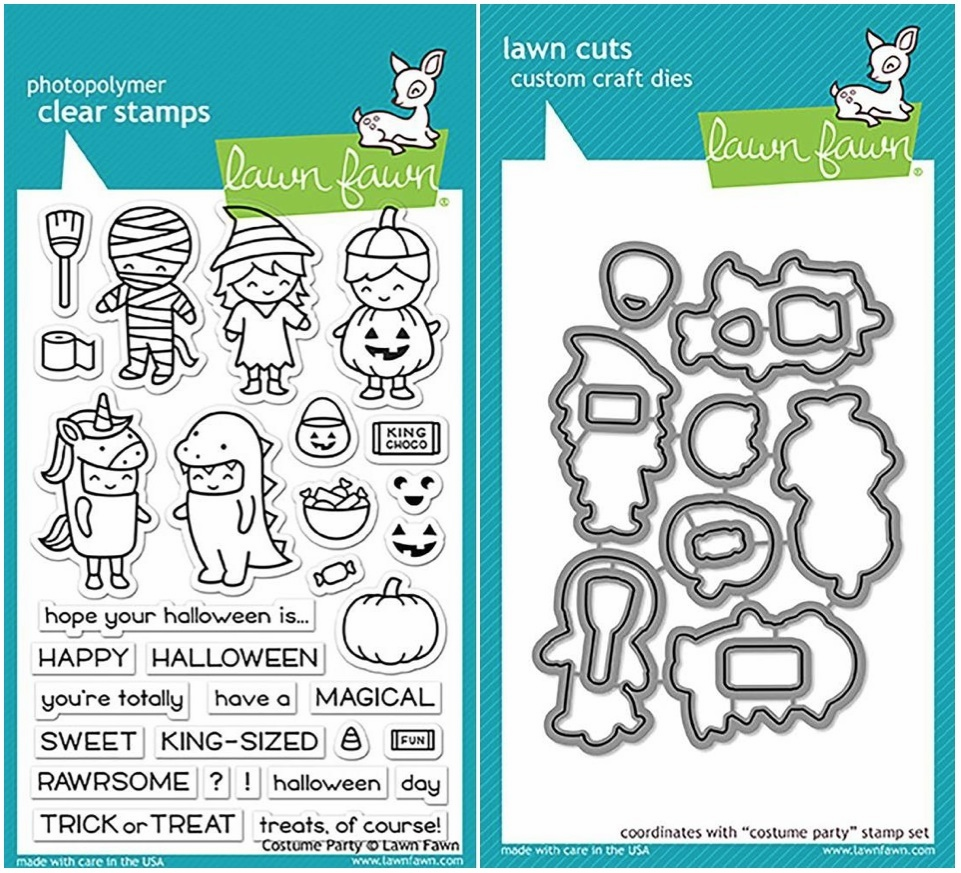 Lawn Fawn Costume Party Clear Stamp and Die Set LF1458 & LF1459