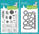 Lawn Fawn Deck The Halls Stamp & Die Set LF721 & LF722