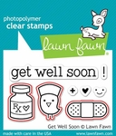 Lawn Fawn Get Well Soon Stamp and Die Set LF682 & LF683