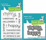 Lawn Fawn Happy Happy Happy Add-on Stamp and Die Set LF1478 & LF1479