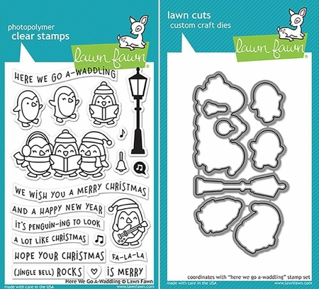 Lawn Fawn Here We Go A-Waddling Stamp and Die Set LF1468 &1469