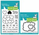 Lawn Fawn How You Bean? Conversation Heart Add-on Stamp and Die Set LF1553 & LF1554