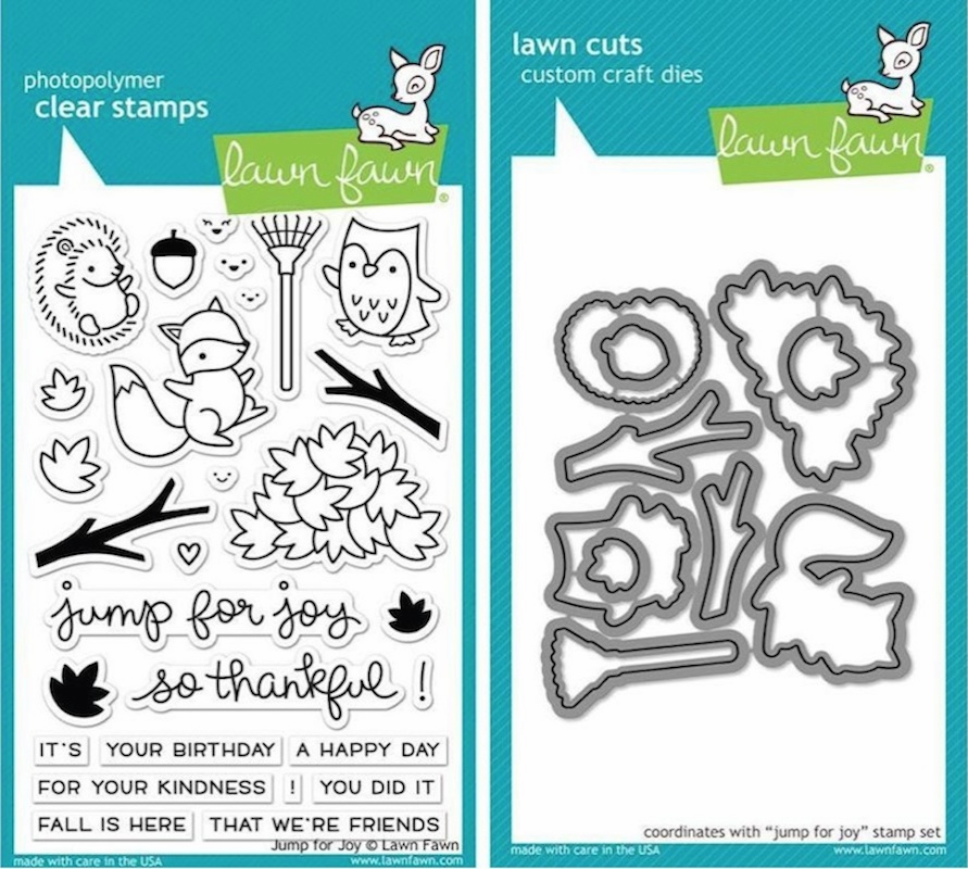 Lawn Fawn Jump For Joy Stamp and Die Set LF1212 & LF1213