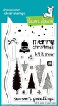 Lawn Fawn Let It Snow Clear Stamp Set LF427