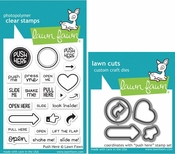 Lawn Fawn Push Here Stamp and Die Set LF1415 & LF1416
