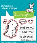 Lawn Fawn Rawr Stamp and Die Set LF1555 & LF1556