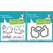 Lawn Fawn Sealed With A Kiss Stamp and Die Set LF1290 & LF1291