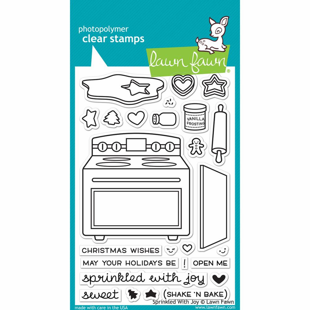 Lawn Fawn Sprinkled With Joy Clear Stamp Set LF1214