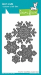 Lawn Fawn Stitched Snowflakes Lawn Cuts Custom Craft Die