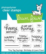 Lawn Fawn Tiny Tag Sayings Birthday Clear Stamp Set