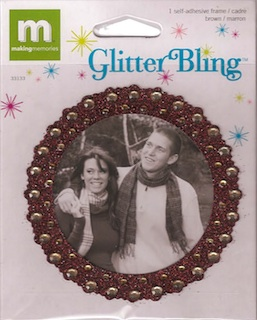 Making Memories: Glitter Bling - Brown Round Frame (E)