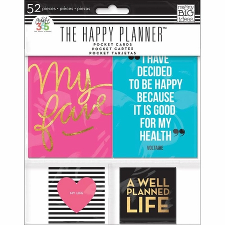 Me & My Big Ideas Create 365 The Happy Planner Pocket Cards 52/Pkg (E)