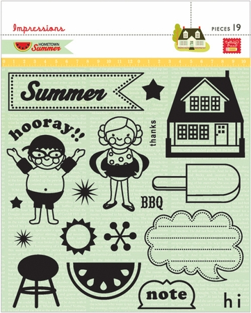 Pink Paislee: Hometown Summer - Clear Stamps