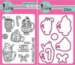 Pink and Main Christmas Mugs Clear Stamps and Die Set
