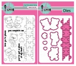 Pink and Main To Pieces Clear Stamps and Die Set