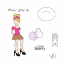 Prima Julie Nutting Cling Stamp Emmy-Lou #912543