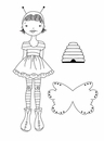 Prima Julie Nutting Cling Stamp Bee Girl