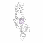 Prima Julie Nutting Cling Stamp Skelly