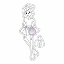 Prima Julie Nutting Cling Stamp Skelly (E)