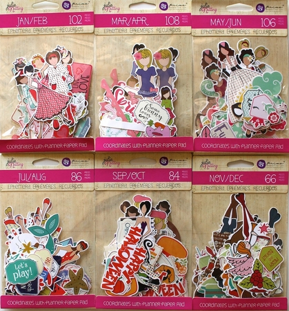 Prima Julie Nutting Ephemera Die Cuts January to December Bundle 6 Pack