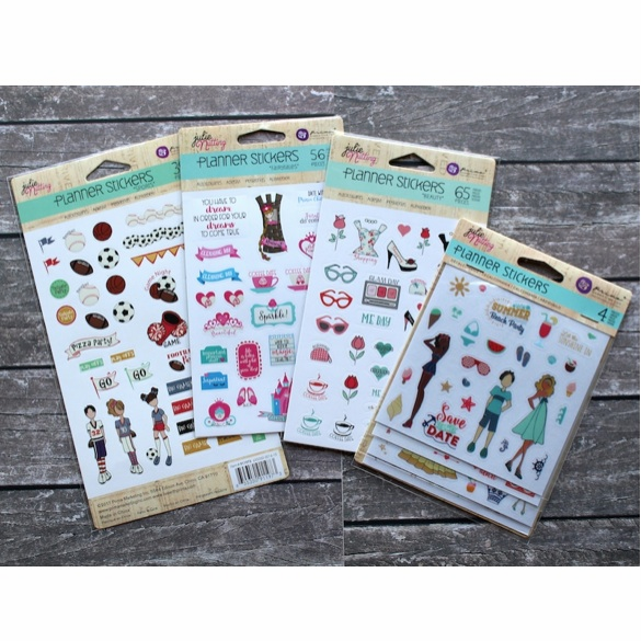 Prima Julie Nutting Planner Stickers Bundle 4 Pack