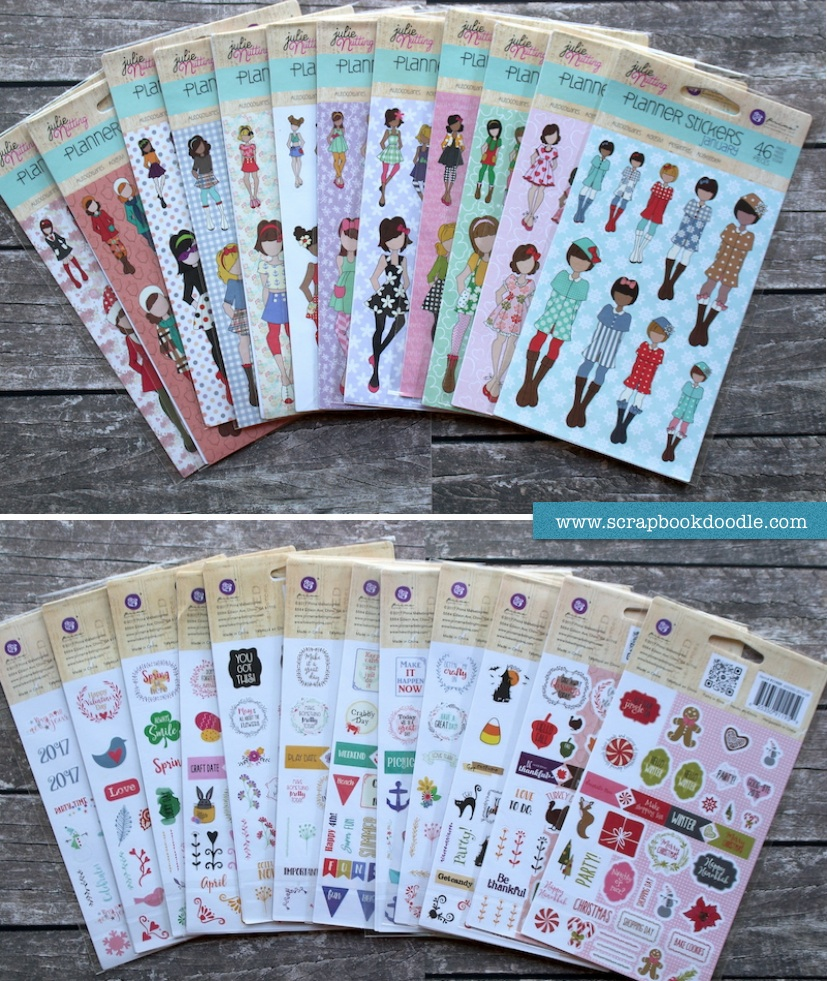 Prima Julie Nutting Planner Stickers Bundle January to December 12 Pack (S/O)