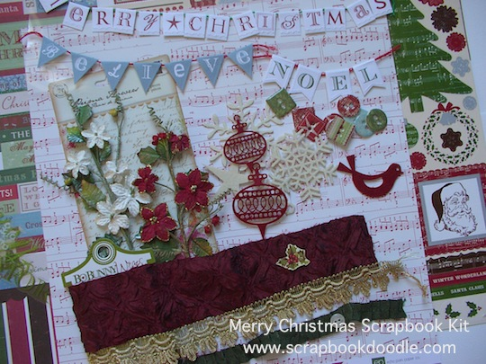 Scrapbook Kit - Merry Christmas